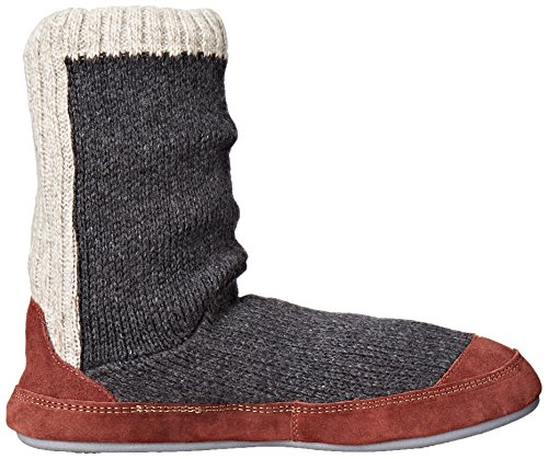 Acorn Men's Slouch Boot Slipper, Charcoal Ragg Wool, Medium/9-10 B US by Acorn (Image #7)