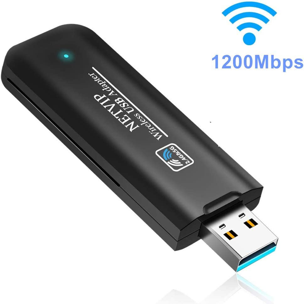 USB WiFi Adapter 600Mbps Wireless Network Card Dual Band 2.4G//5.8G WLAN Card with WPS Button for Desktop//Laptop//PC,Perfect for Windows XP//Vista//7//8//10,Mac OS X