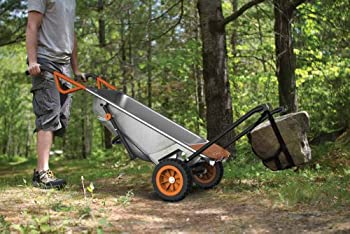 Worx Aerocart Multifunction 2-wheeled Yard Cart, Dolly, & Wheelbarrow With Flat Free Tires - Wg050 6