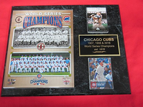 Champions Collectors Series World - 1908 2016 Cubs World Series Champions 2 Card Collector Plaque w/8x10 Photo!