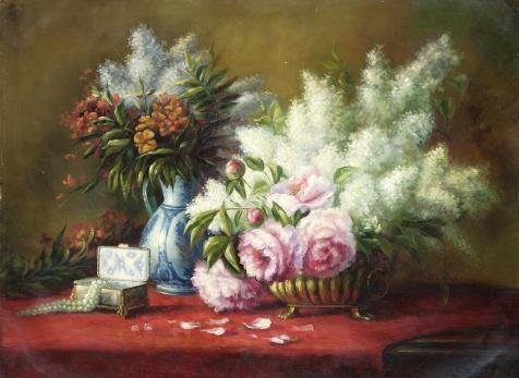 The Perfect Effect Canvas Of Oil Painting 'Still Life With Flowers' ,size: 8x8 Inch / 20x20 Cm ,this Replica Art DecorativePrints On Canvas Is Fit For Nursery Artwork And Home Decor And Gifts
