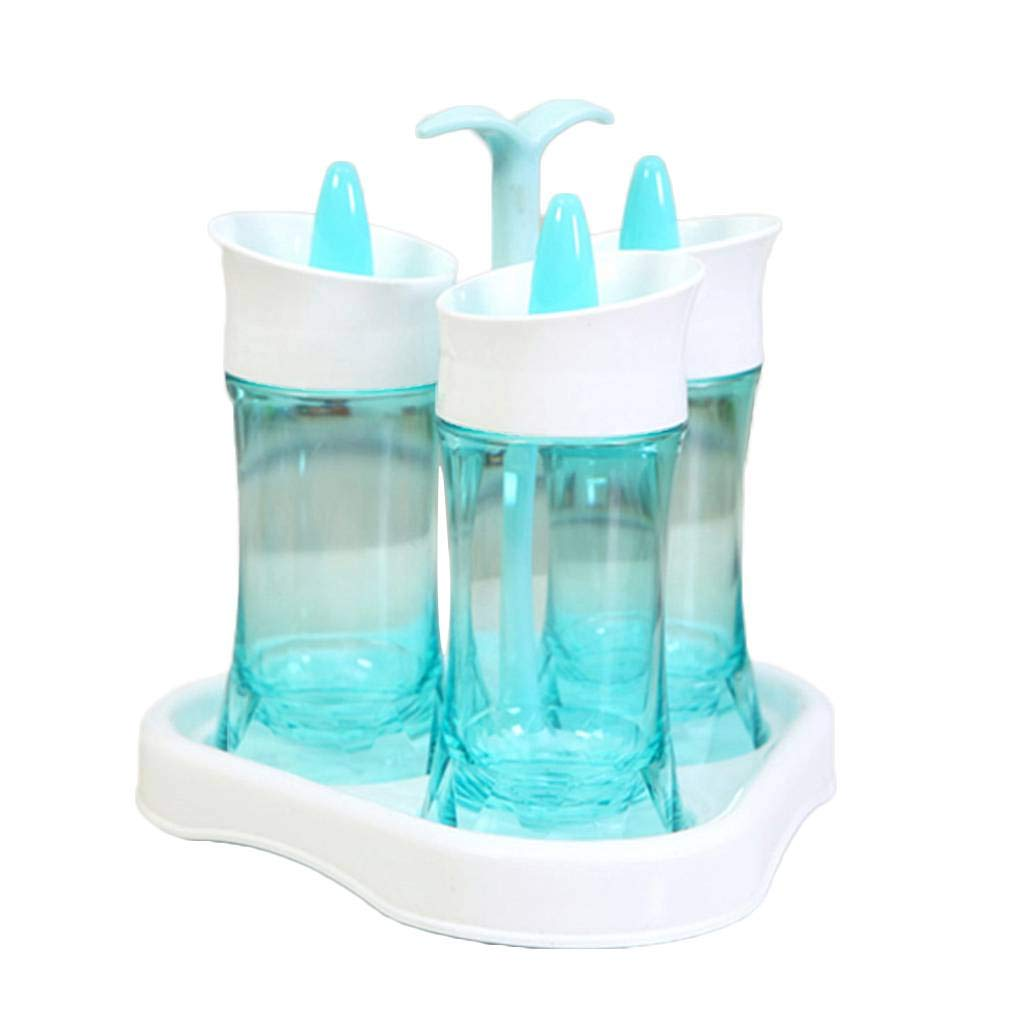 Kakiyi Multi-Purpose Rotierende 3 Menage Flaschen Sets Salz Pfefferstreuer K/üche Spice Gew/ürz-Topf