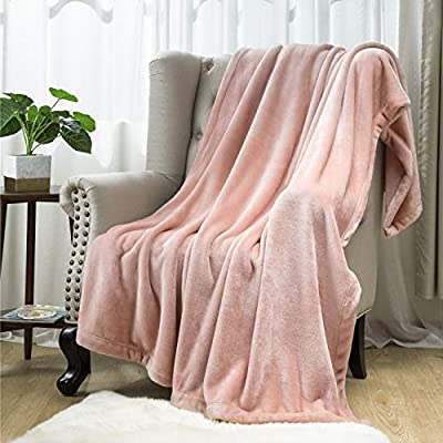 "Bedsure Flannel Fleece Blanket 350GSM - Throw Size 50x60 inches, Coral Pink - Soft, Plush, Warm Blanket for All Seaon, Thick Blanket for Couch Sofa Bed Traveling - Reversible Bed Blankets - THICKER & SOFTER: Through a ""napping"" process, Bedsure offers a thicker flannel blanket that warms you up on the chilliest nights of the year - Luxuriously softer to the touch, flannel blankets create gentle softness from the moment you touch them - The striking neutral hue and furry texture makes for a stylish addition to your home. IMPROVED PROCESS: We use process improvements to add a decent weight and thickness to it for extra warmth all around you during the winter months - Well-stitched all the way around, you won't have to worry about fraying or tears along the edge - Tightly woven flannel, minimal shrinkage, and has less tendency to fade, shed or pill than normal fleece blanket. ENJOY COZY WARMTH EVERYWHERE: Versatile fleece blankets work as decorative blankets, bed blankets, or car blankets for extra warmth during your long rides - Great for a quick stop at the park to lie down; snuggling in it while reading or working on your laptop; taking a nap in the office; protecting your leather couch from pets' hair/claws. - blankets-throws, bedroom-sheets-comforters, bedroom - 51xCc7QbS3L. SS400  -"