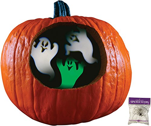 Potomac Banks Pumpkin Projector (Ghosts) with Free Spider Web ()