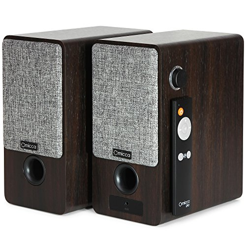 Micca ON3 3-Inch Powered Bookshelf Speakers with Remote Control, 48 Watts (24W x 2) RMS Power, Front and Rear Input Jacks by Micca (Image #3)