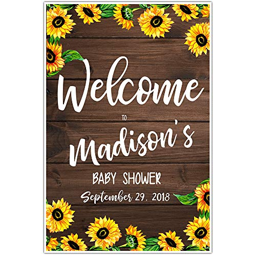 Sunflower Baby Shower Welcome Sign Poster