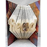 Hand Folded Book Art Sculpture, Read, Harry Potter Fan Fantasy Lover Gift, Library Kids Room Decor