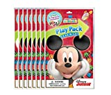 Mozlly Multipack - Bendon Disney Mickey Mouse Playback Grab and Go Fun Size Coloring Book - Sets Include 4 Crayons, 1 Sticker Sheet and Coloring Book - Novelty Character Arts and Crafts (Pack of 12)