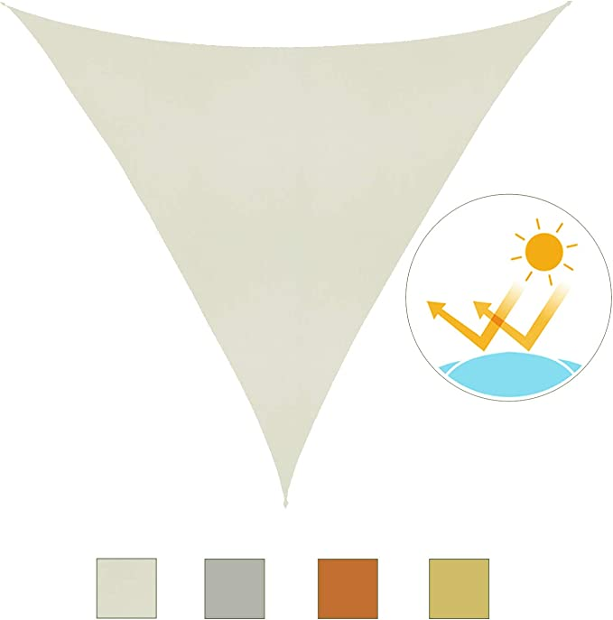 Outsunny Toldo Vela 4x4x4m Triangulo Color Crema Sombrilla Parasol ...
