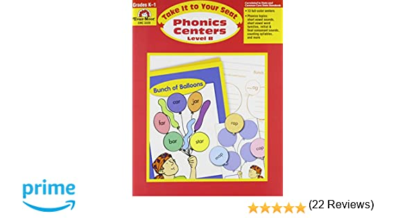 Workbook free phonics worksheets : Amazon.com: Take It to Your Seat Phonics Centers, Grades K-1 ...