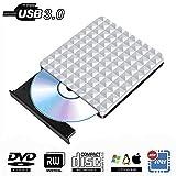External CD DVD Drive USB 3.0,Portable Optical CD Drives DVD-RW Rewriter Burner Writer for PC Desktop/Laptop/Windows/Linux/Mac OS/Chromebook