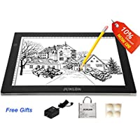 JUNLON A4 LED Light Pad Box Great Variety Tracing Table Drawing Board Bright Pad for Drawing Artists Tattoo Stencil Artcraft Tracing Animation Extremely Bright Adjustable Brightness Light Tracer