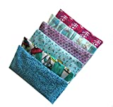 Cheap Peacegoods Aromatherapy Yoga Eye Pillow – Pack of (6) – 4.5 x 9 – Organic Lavender Chamomile Flax – Washable Cover Cotton – bulk – teal green magenta pink purple flowers leaves turquoise block print