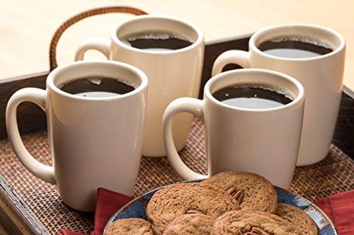 American Mug Pottery Ceramic Bistro Style Coffee Mug, Made in USA, Ivory, 14 oz - Pack of - Usa Ivory