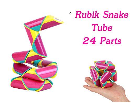 Rubik Snake Twist Tube 24 Wedges (Parts) each Part Size 1.8