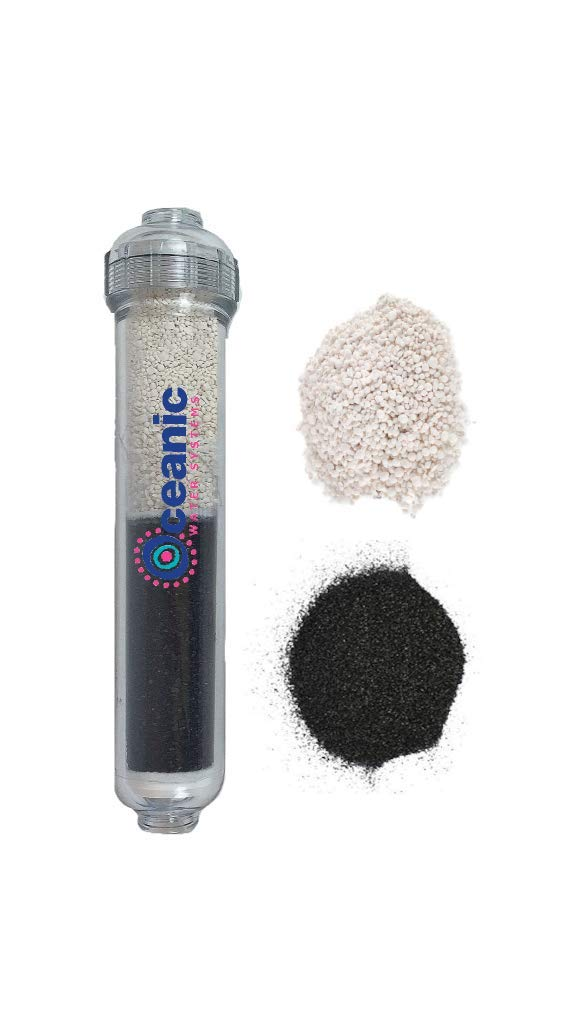 Oceanic Dual Post Carbon (GAC) & pH Alkaline Water Filter Cartridge for RO Systems