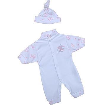 2ddb08fb4 Amazon.com  BabyPrem Preemie Baby Girls Clothes Set Romper   Hat 1.5 ...