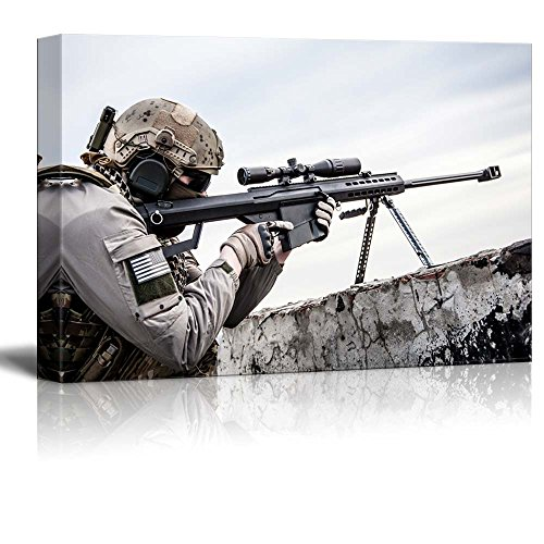 Sniper Posted on Roof Ledge Wall Decor ation