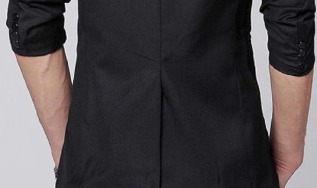 HEFASDM Men Casual Silm Fit Single Button Plain Wedding Party Outwear Blazer