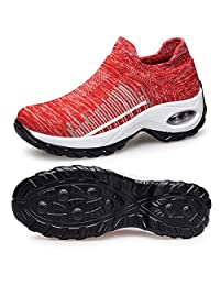 Belilent Slip On Walking Shoes Women Lightweight Sneakers Work Hiking Running Shoes Breathable Air Cushion Indoor Outdoor