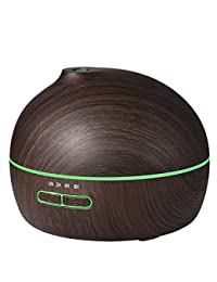 VicTsing 300ml Essential Oil Diffuser Ultrasonic Aroma Wood Grain Humidifier with 7 Color LED Lights for Office Home Room Yoga Spa BOBEBE Online Baby Store From New York to Miami and Los Angeles