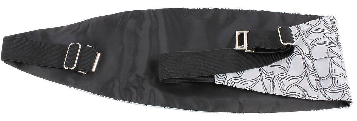 Knightsbridge Neckwear Mens Bow Tie and Cummerbund Set White//Black