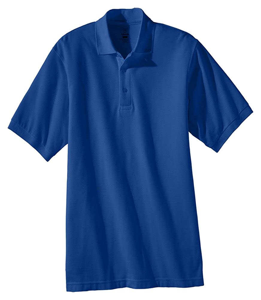 Edwards Mens Short Sleeve Soft Touch Blended Pique Polo