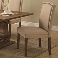 Coaster Home Furnishings 103712 Traditional Side Chair, Beige, Set of 2