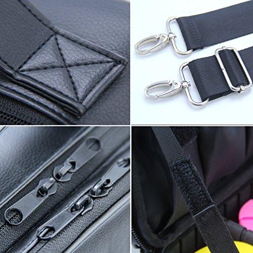 Travel Makeup Bag Makeup Train Case 2 Layer Premium PU Leather Cosmetic  Makeup Brush Organizer with Mirror Portable Artist Storage Bag Toiletry Bag  Perfect ... cf97a8f90ff4c