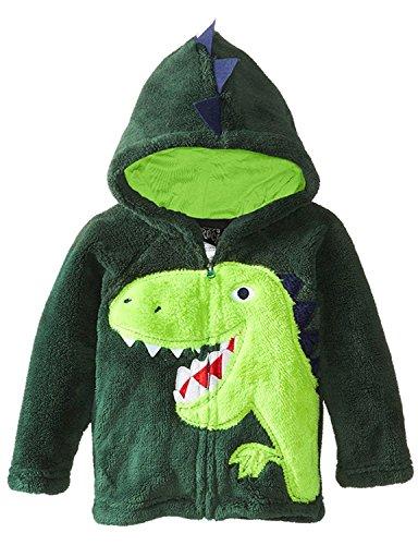 Little Boys Super Cute Dinosaur Hoodie Cartoon Long Sleeve Coat Jacket for Halloween Christmas (4-5 years)