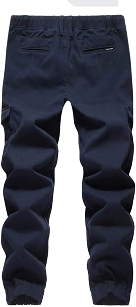 SOMESUN-Pantaloni da Uomo A Prova di Vento AllAperto Escursionismo Caldo Inverno Pantaloni Spessi Pantaloni Slim Fit alla Caviglia Elasticizzati Larghi Lavoro Elegante Sportivo