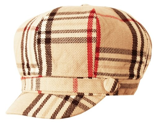 Super Soft Cashmere Feel Classic Plaid newsboy cabbie apple Cap Hat