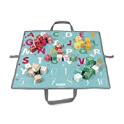 Janod Kubix 40 Wooden Number & Letter Blocks in Playmat Carry bag by Janod