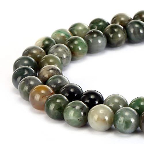 - BRCbeads Gorgeous Natural Chinese Sinkaing Jade Gemstone Smooth Round Loose Beads 10mm Approxi 15.5 inch 35pcs 1 Strand per Bag for Jewelry Making