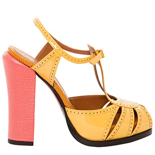 Zapato De Plataforma Perforada Fendi Colorblock