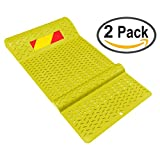 Electriduct Pair of Plastic Park Right Parking Mat Guides for Garage Vehicles, Antiskid Car Safety - Yellow