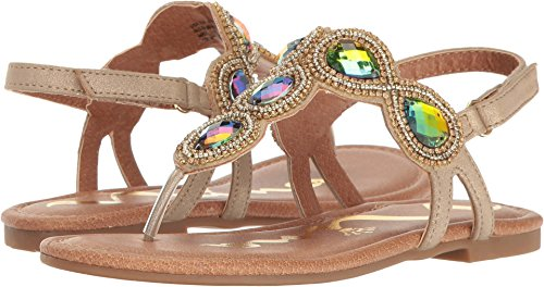 Jeweled Girls Sandals - Nina Kids Elicia Girls' Toddler-Youth Sandal 2 M US Little Kid Gold-Metallic
