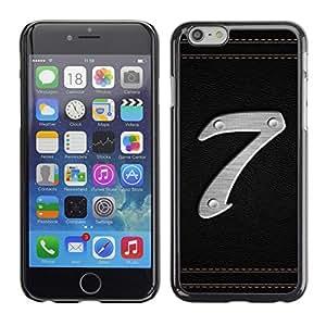 Cubierta de la caja de protección la piel dura para el Apple iPhone 6 (4.7) - Number 7