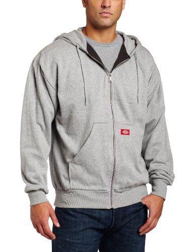 Dickies Men's Thermal-Lined Zip Hooded Fleece Jacket