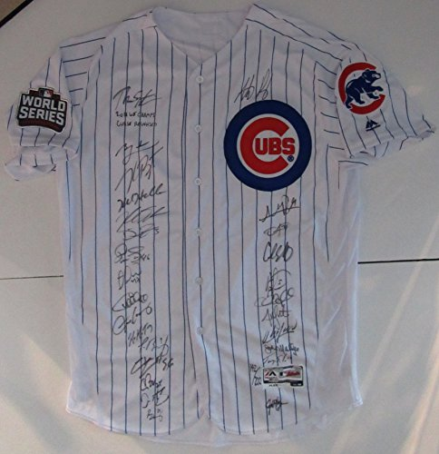 Majestic Chicago Cubs 2016 World Series Champ Team Autogr...