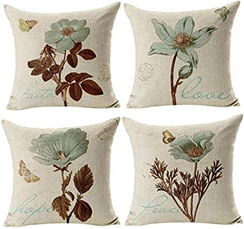 Inshere Summer Theme Pillow Covers Pillowcases Hello Summer Throw Pillow Decorative Cushion Cover Cases 18″ x 18″ (Set of 4)