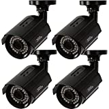 Q-See QTH8053B-4 1080p HD Analog Bullet Security Camera 4-Pack (Black)