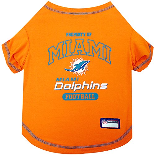 Pets First Miami Dolphins T-Shirt, Medium