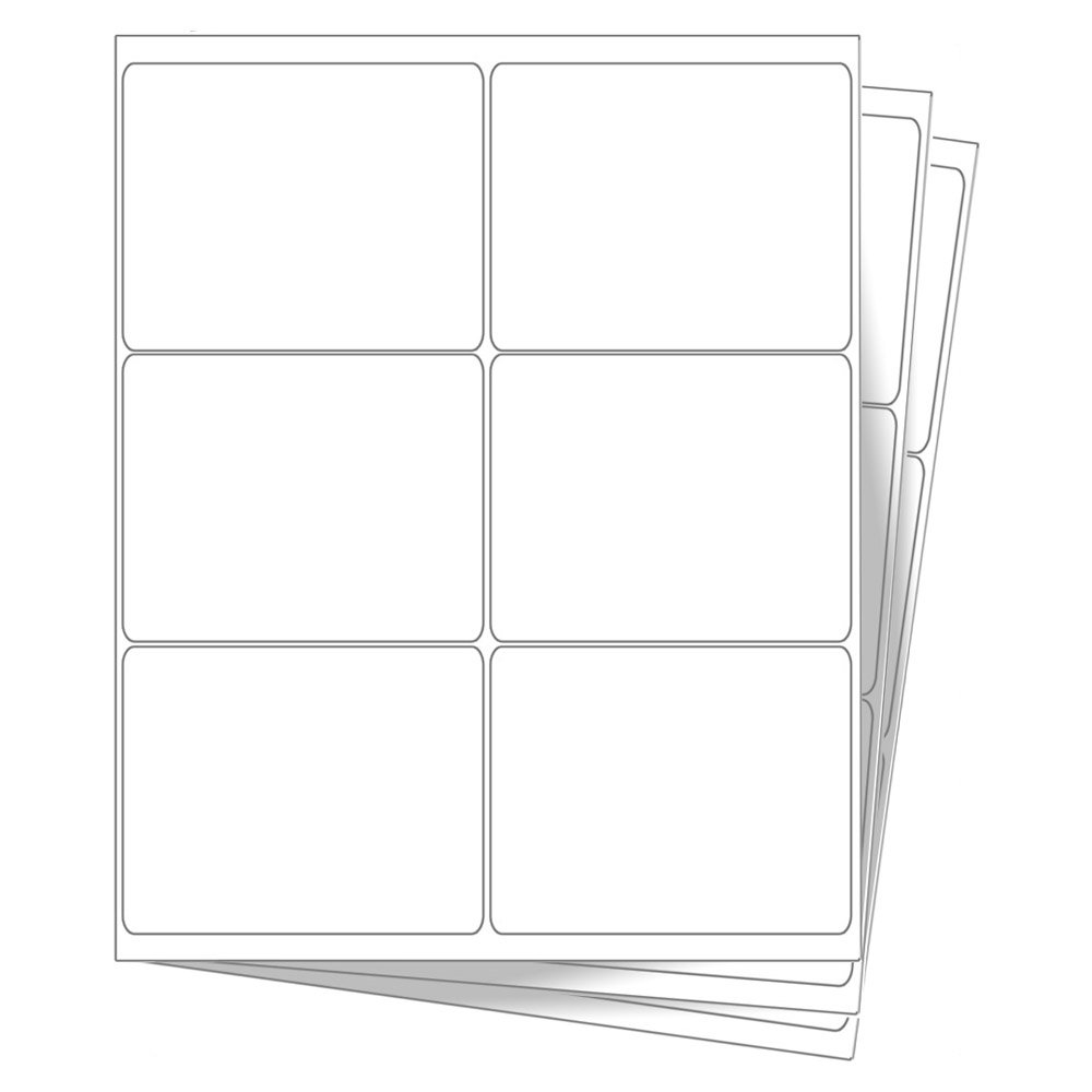 6 EcoSwift Shipping Labels 4 x 3 1/3 inches Mailing Address Blank White Self Adhesive for Laser Inkjet Printer 4 x 3.33