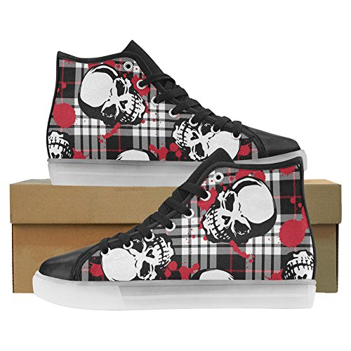 Light Up Bones Womens Sneakers Shoes 1 Flashing Skull InterestPrint Skulls And BqZBIt