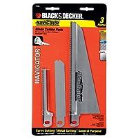 BLACK + DECKER 74-598 Navigator Combo Set, juego de cuchillas de 3 piezas para sierra de mano