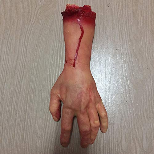 Balai Halloween Scary Decorations Fake Dead Bloody Body Parts Props -Fake Human Severed Foot Hand & Fingers Halloween Trick or Treat Party Prop Decoration Haunted House Halloween Decorations(4 Pcs) -