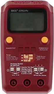 D DOLITY ESR02 PRO Tester Transistor Digitale SMD Capacitivo Induttore Resistori Condensatori Rosso