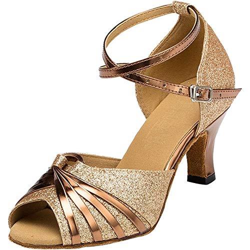 Cm Boca Baile Talón 6 Salón Danza Étnica Satén Wealsex Pescado Golden De Medio Mujeres Zapatos Latinos nvx1qSTE0w