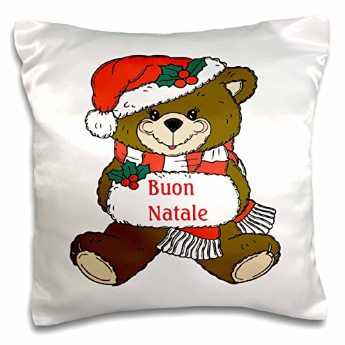 3D Rose Image of Buon Natale Italian Christmas Teddy Bear...
